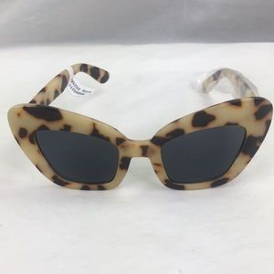 free people Cat eye animal print sunglasses new